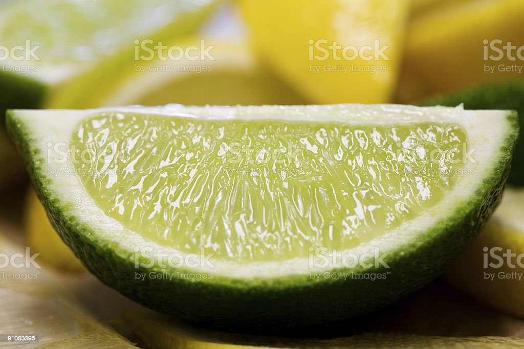 Freshly Cut Lime stock photo