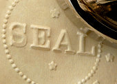 Freshly Embossed Official Corporate, Approval, Accreditation, or Notary Raised Seal
