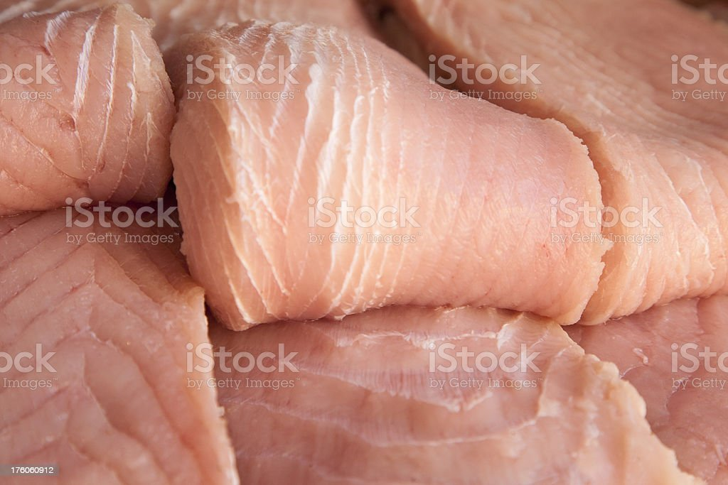 Freshly Filleted Raw Fish, Food royalty-free stock photo