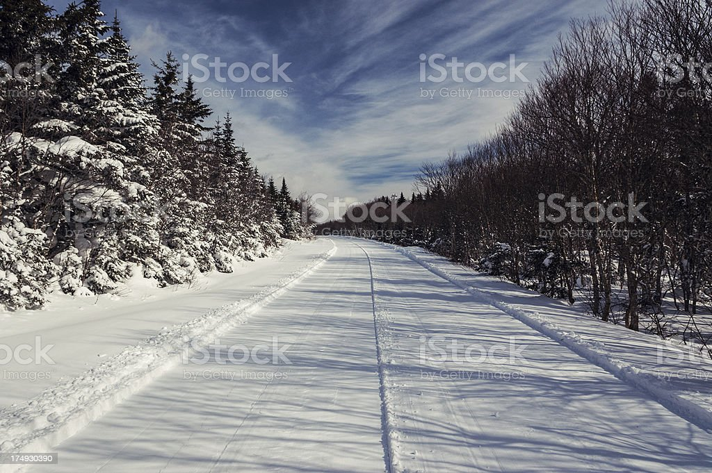 Freshly Groomed Trail stock photo