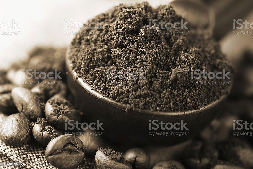 freshly ground coffee royalty-free stock photo