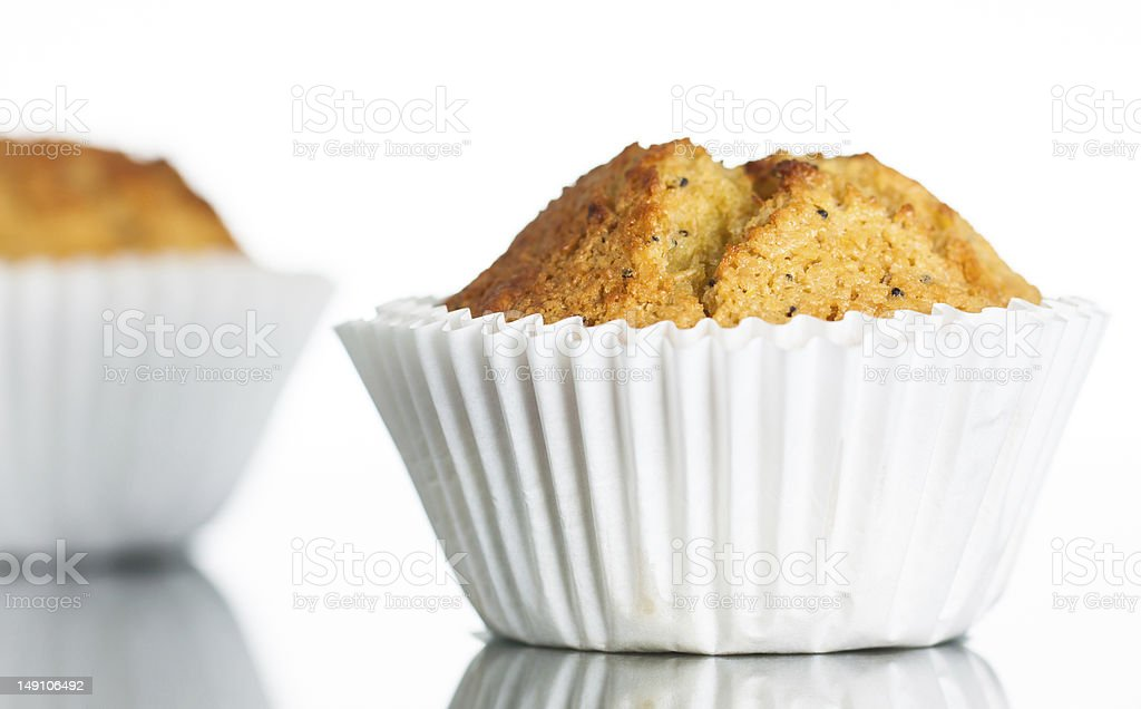 Freshly home baked banana muffin royalty-free stock photo
