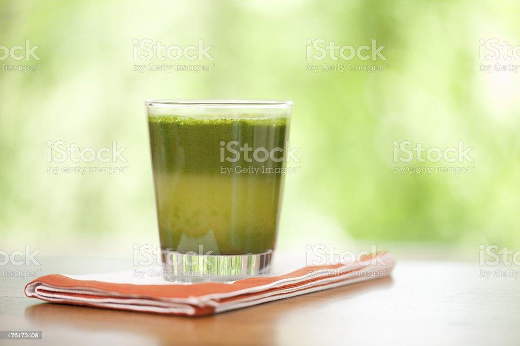 Freshly juiced green juice royalty-free stock photo