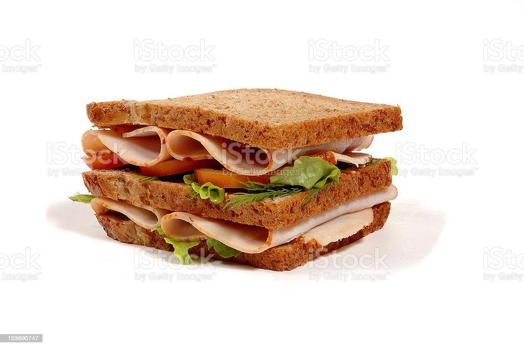 freshly made sandwich royalty-free stock photo
