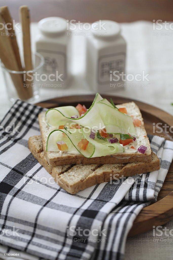 Freshly made sanwich royalty-free stock photo