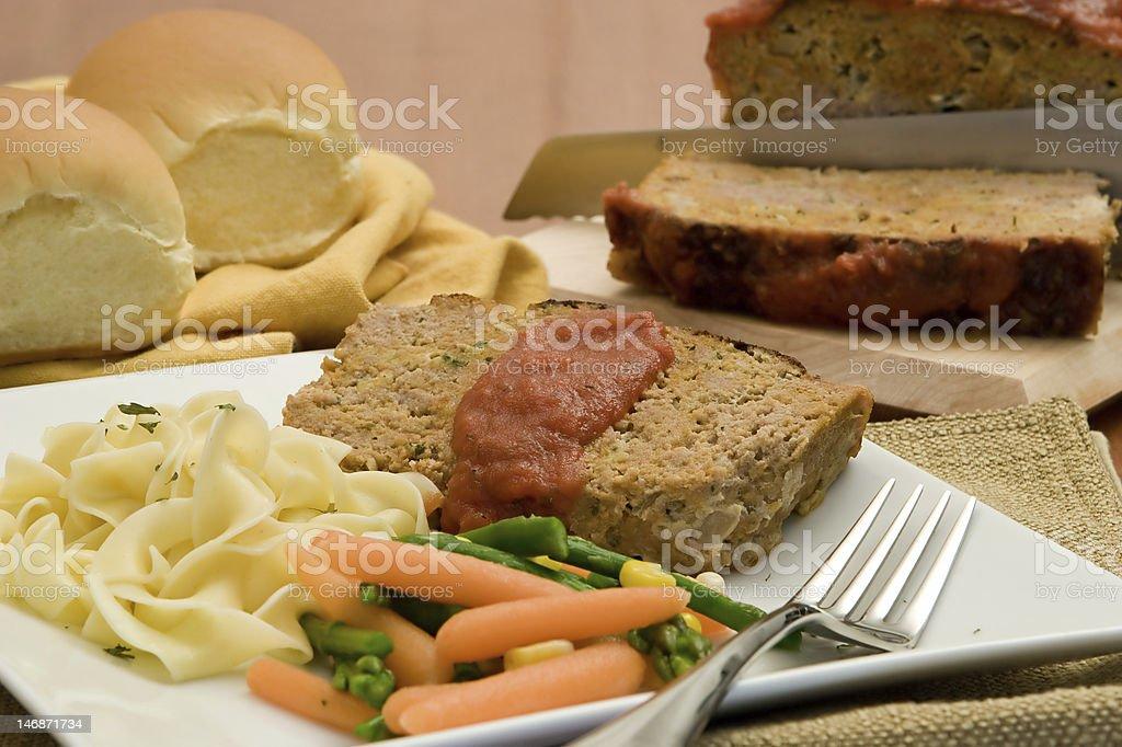 Freshly Made Turkey Meatloaf stock photo