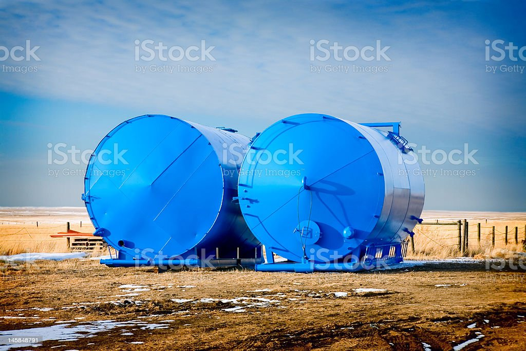 Freshly Painted Tanks royalty-free stock photo