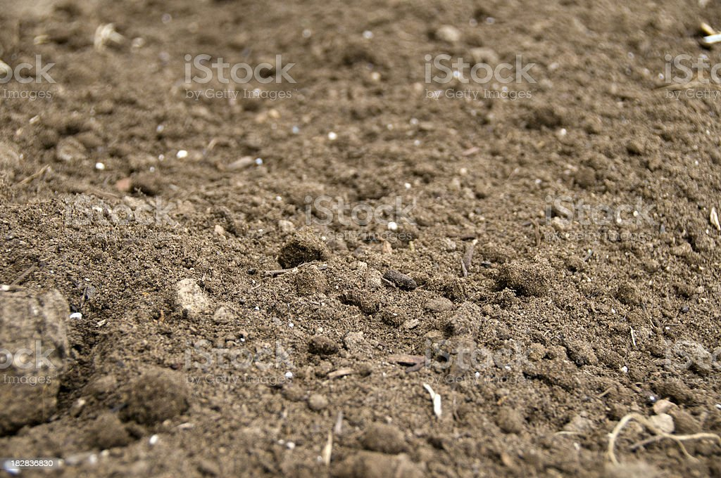 Freshly Plowed Dirt stock photo