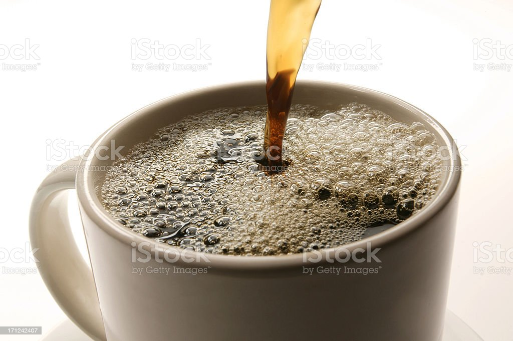 Freshly Poured Coffee royalty-free stock photo