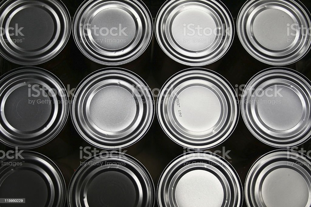 Freshly Produced Food Cans royalty-free stock photo