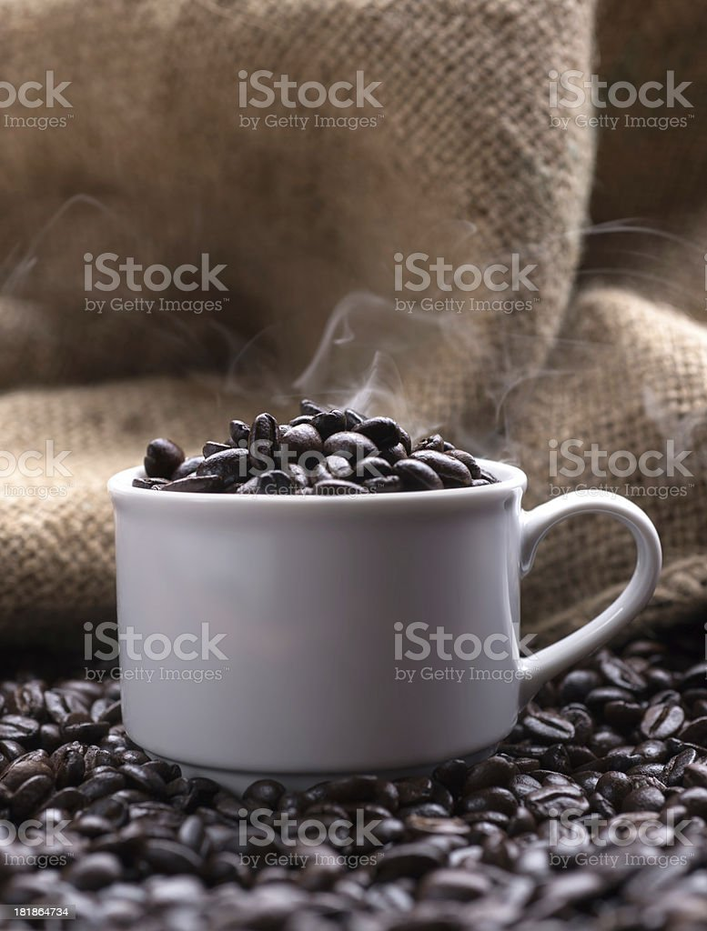 freshly roasted coffee royalty-free stock photo