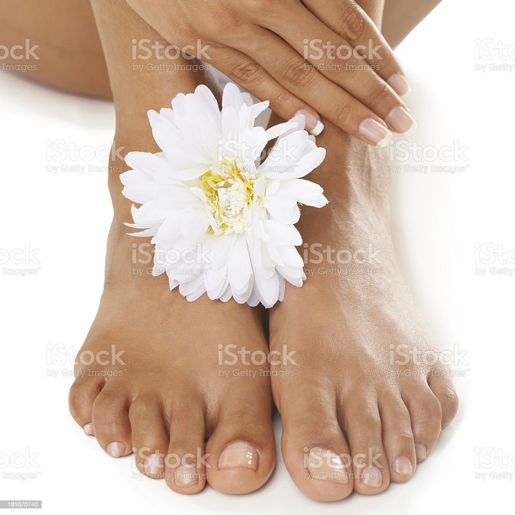 Freshly scented feet royalty-free stock photo