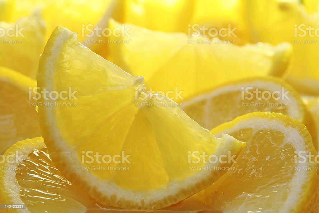 Freshly sliced lemons. royalty-free stock photo