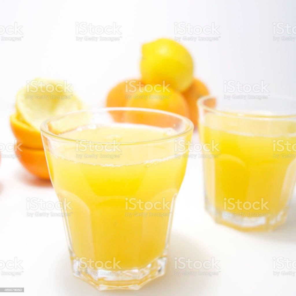 Freshly squeezed juice stock photo