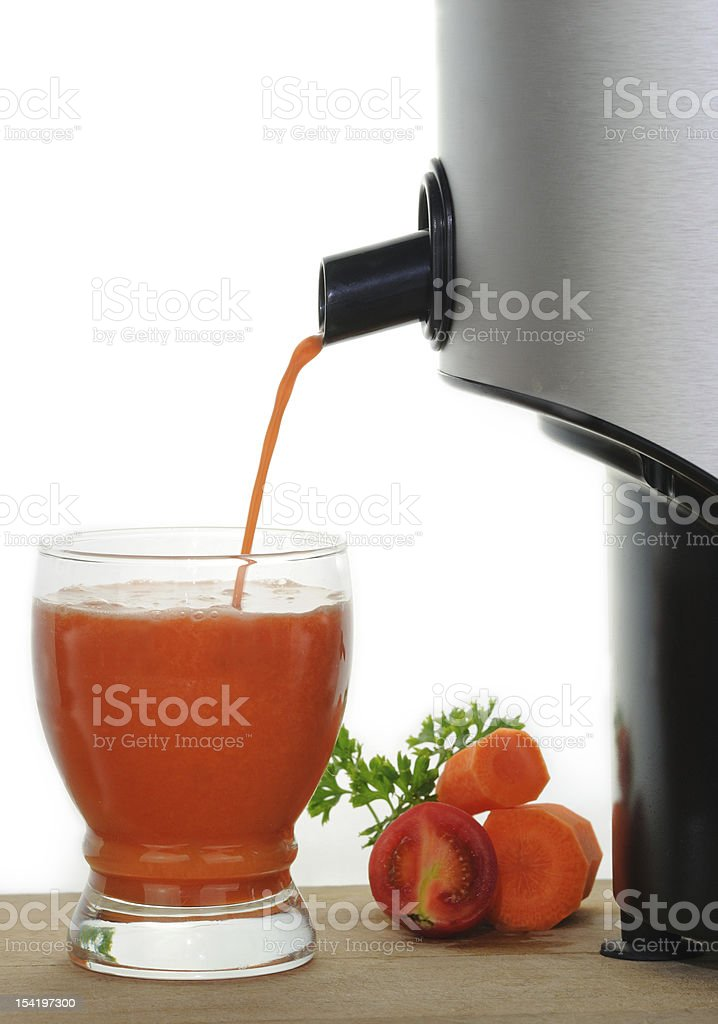 Freshly Squeezed Vegetable Juice stock photo