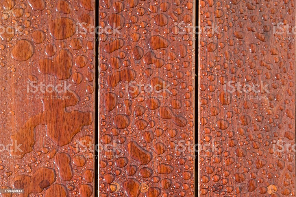 Freshly Varnished Decking stock photo