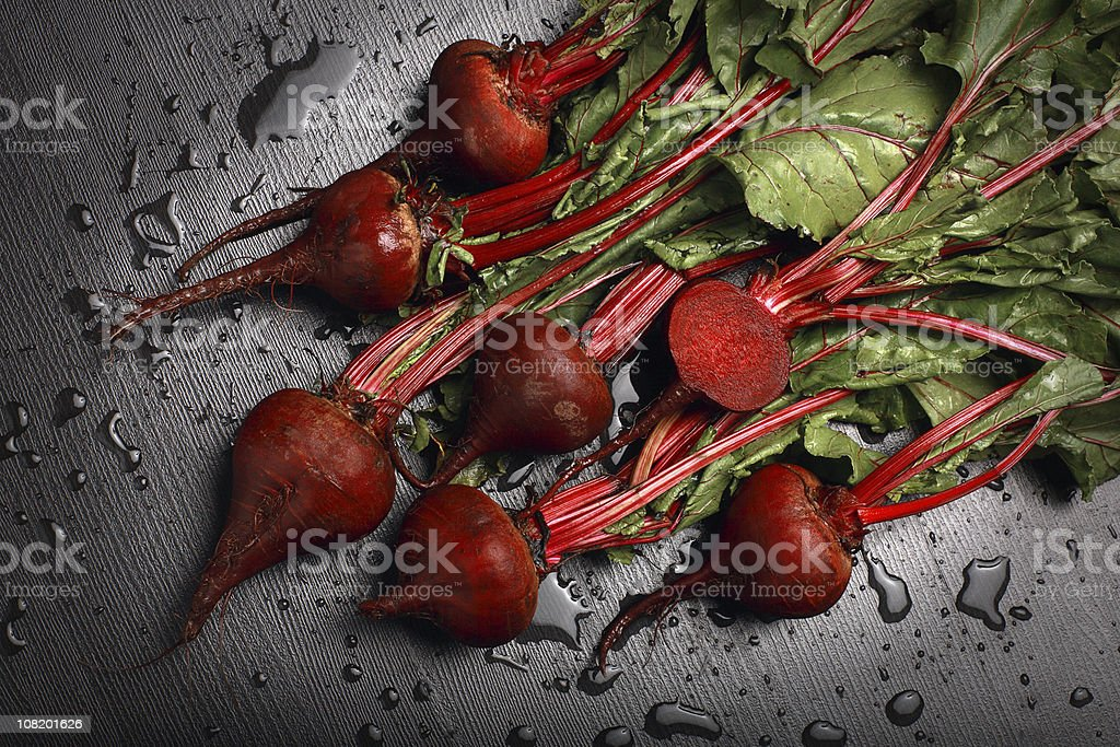Freshly Washed Beets royalty-free stock photo
