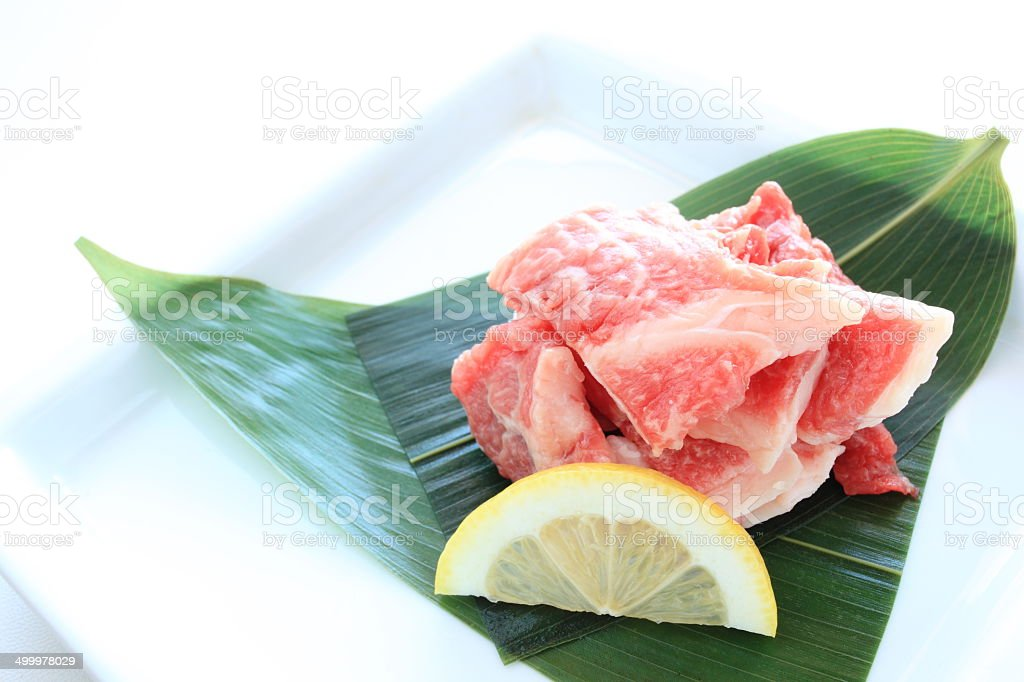 Freshness beef tendon stock photo