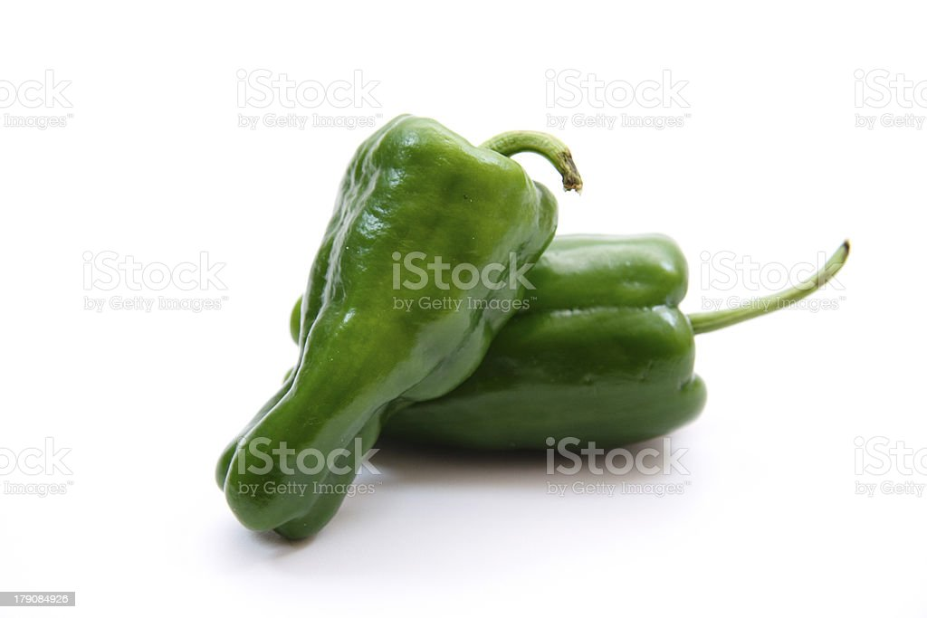 Freshness greens paprika stock photo