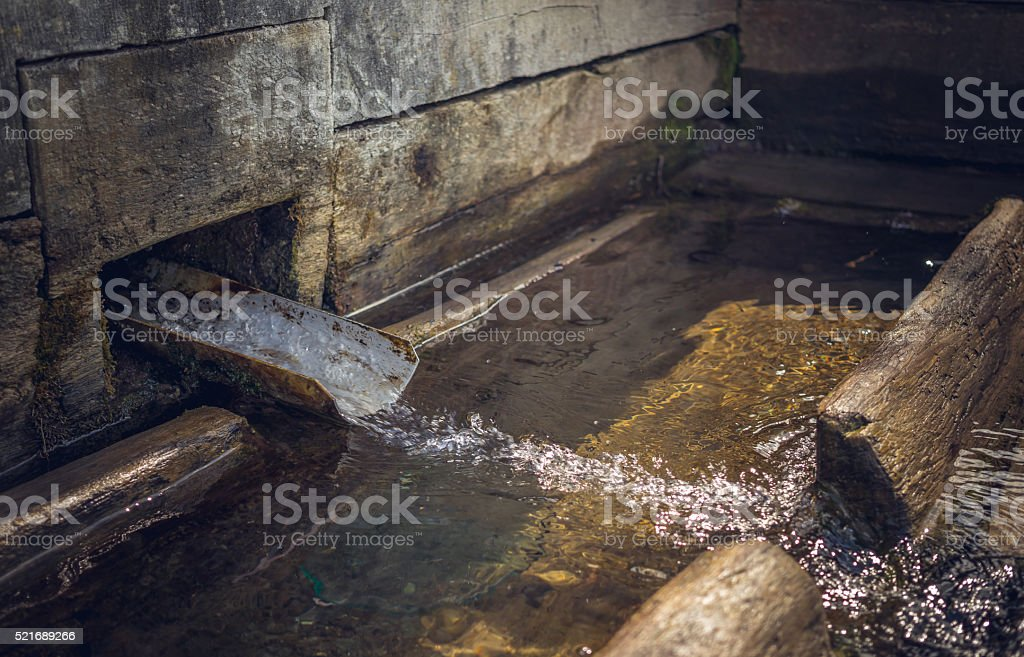 Freshwater artesian source stock photo