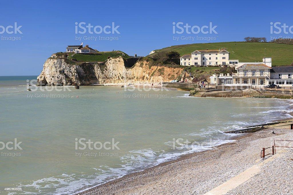 Freshwater Bay Isle Of Wight England stock photo