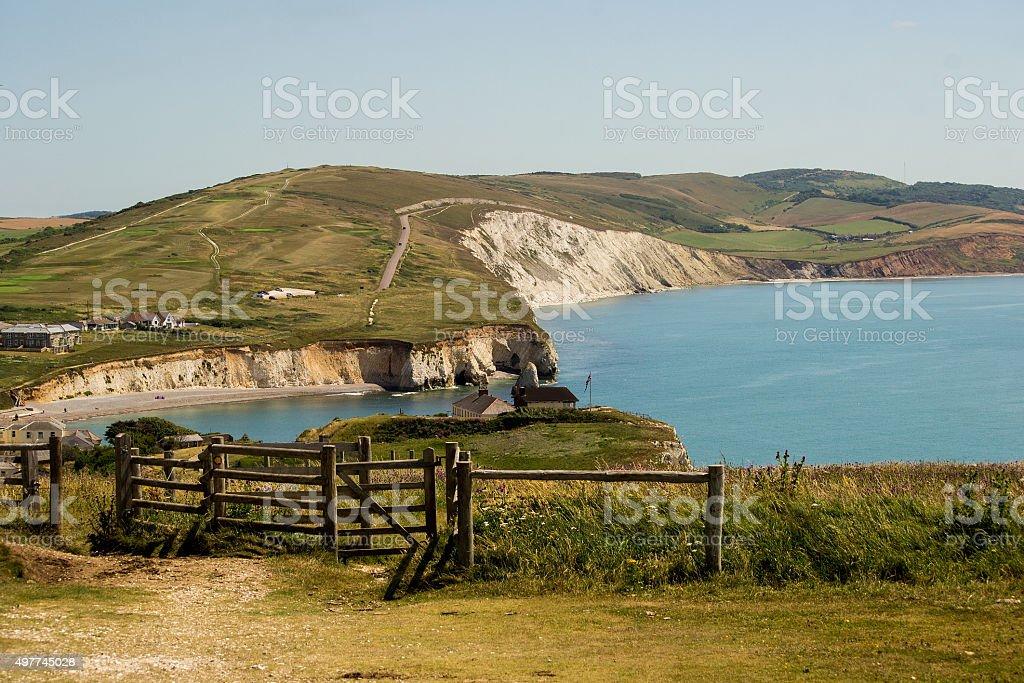 Freshwater bay - Isle of Wight stock photo