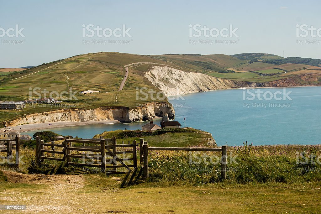 Freshwater bay - Isle of Wight stock photo