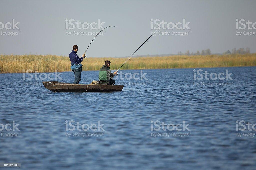 Freshwater fishing stock photo