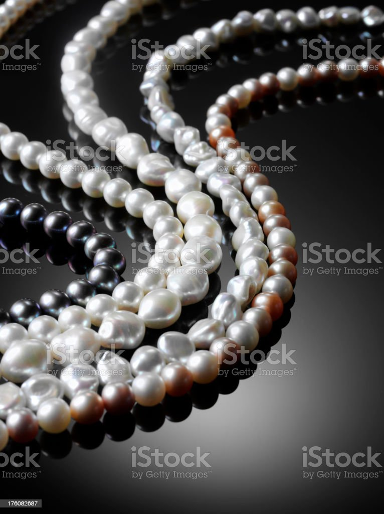 Freshwater Pearl Necklace stock photo