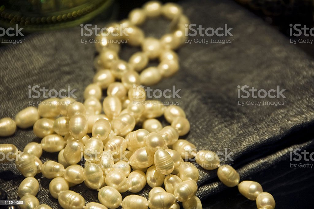 Freshwater pearls stock photo