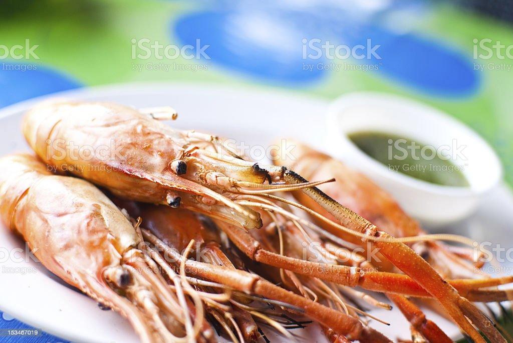 Freshwater prawn food. royalty-free stock photo