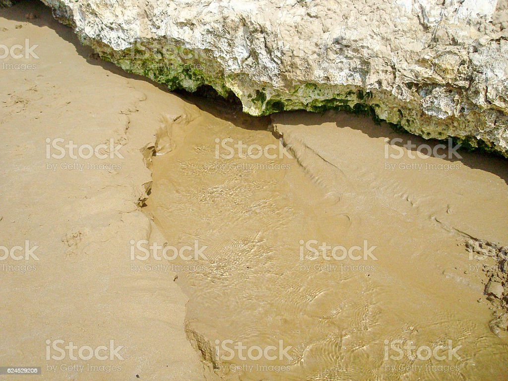 Freshwater river on the beach stock photo