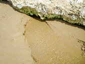 Freshwater river on the beach