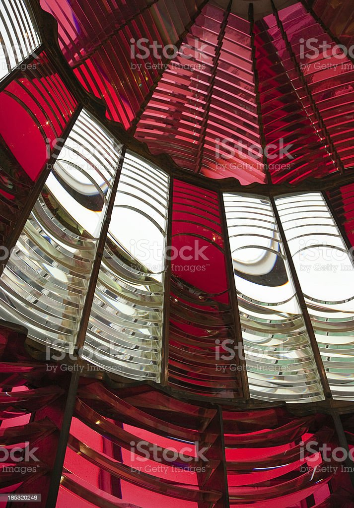 Fresnel Lens at Umpqua River Lighthouse royalty-free stock photo