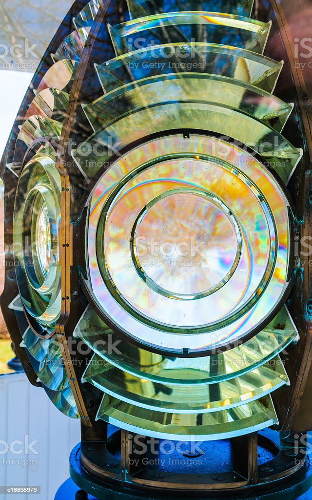 Fresnel Lens Detail stock photo