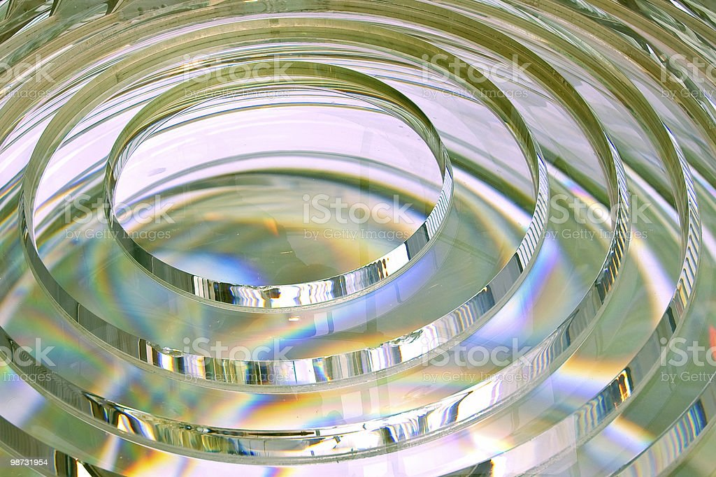 fresnel lens of lighthouse beacon stock photo