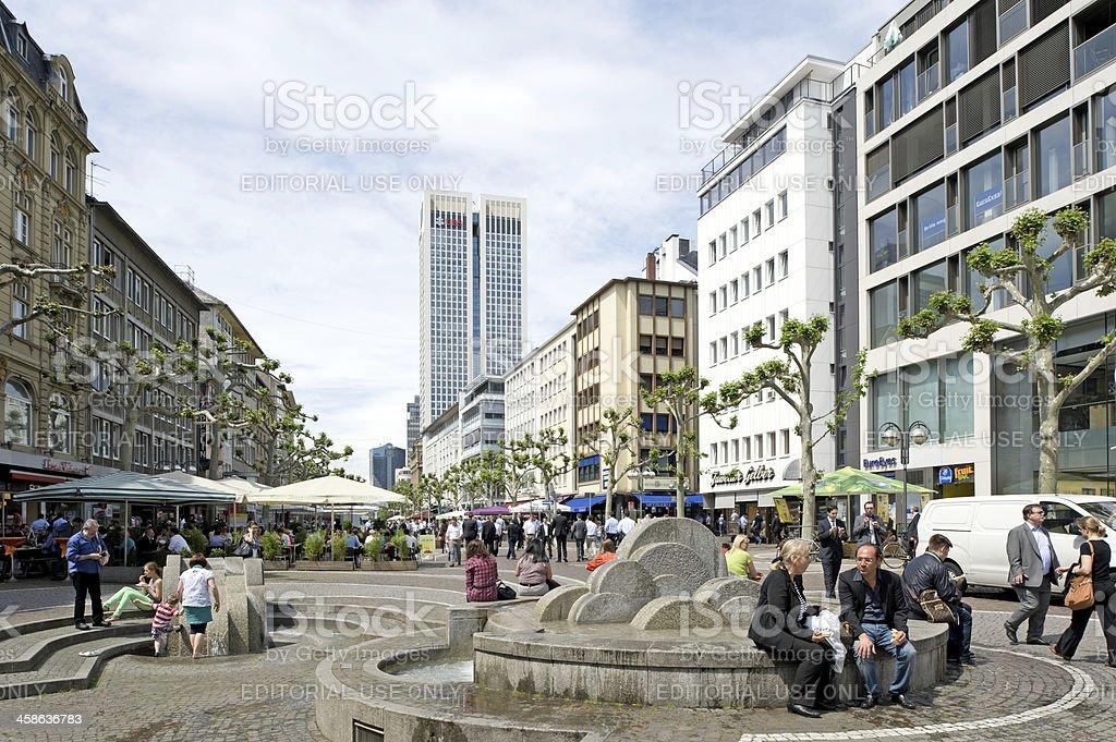 Fressgass Street, Frankfurt, Germany stock photo