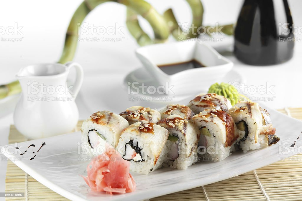frest and tasty sushi royalty-free stock photo