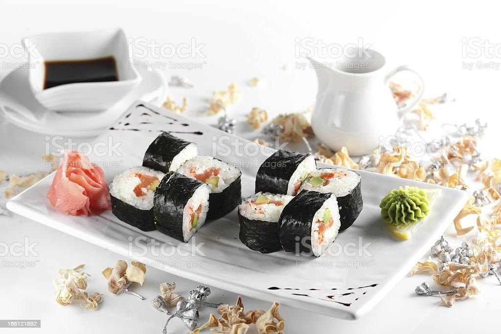 frest and tasty sushi royalty-free stock photo