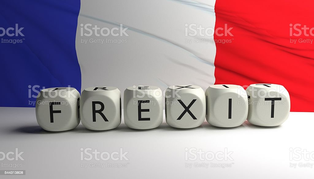 Frexit - France leaving EU stock photo