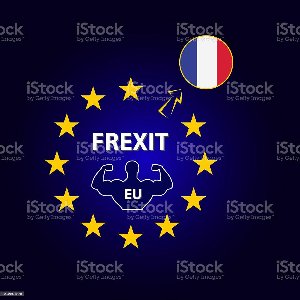 Frexit stock photo