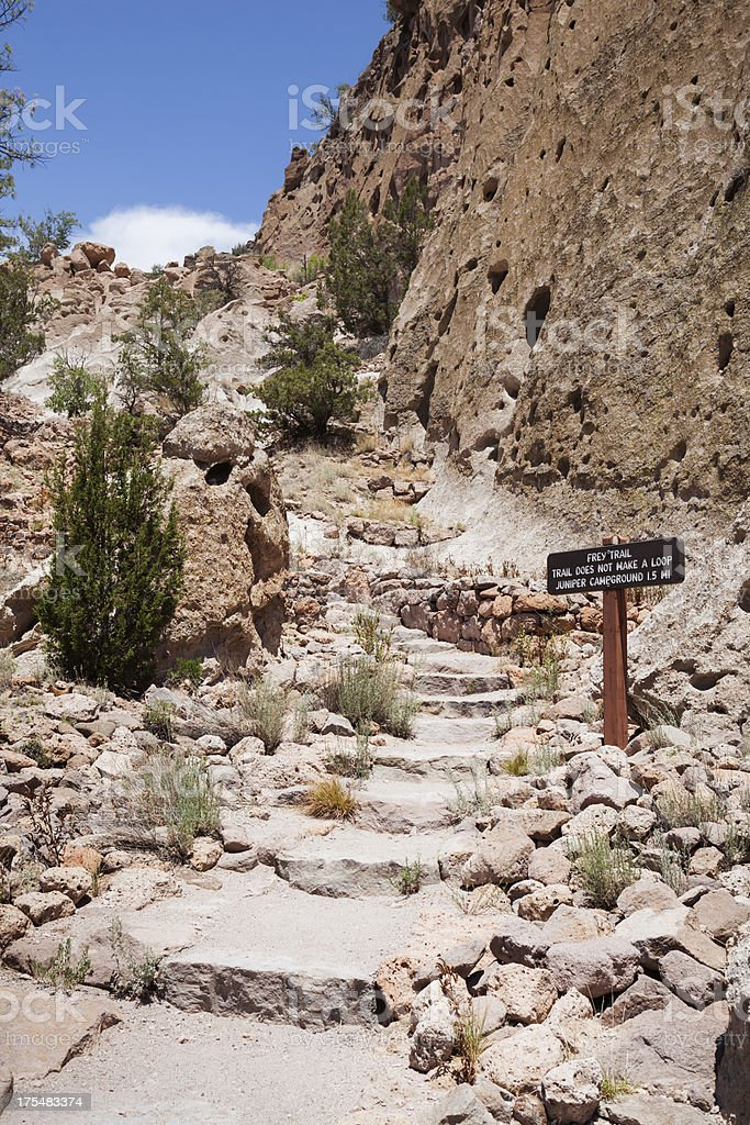 Frey Trail at Bandelier National Monument. stock photo