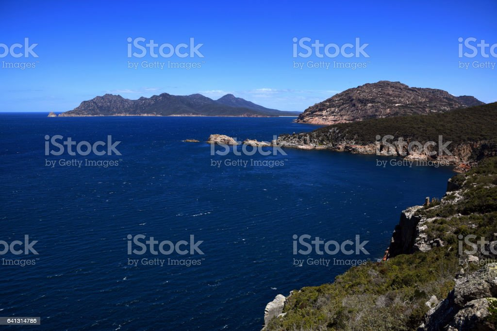 Freycinet National Park Tasmania Coles Bay Hazards stock photo