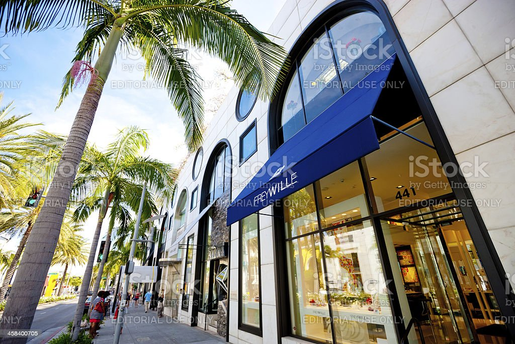 FreyWille store on Rodeo Drive, Beverly Hills stock photo