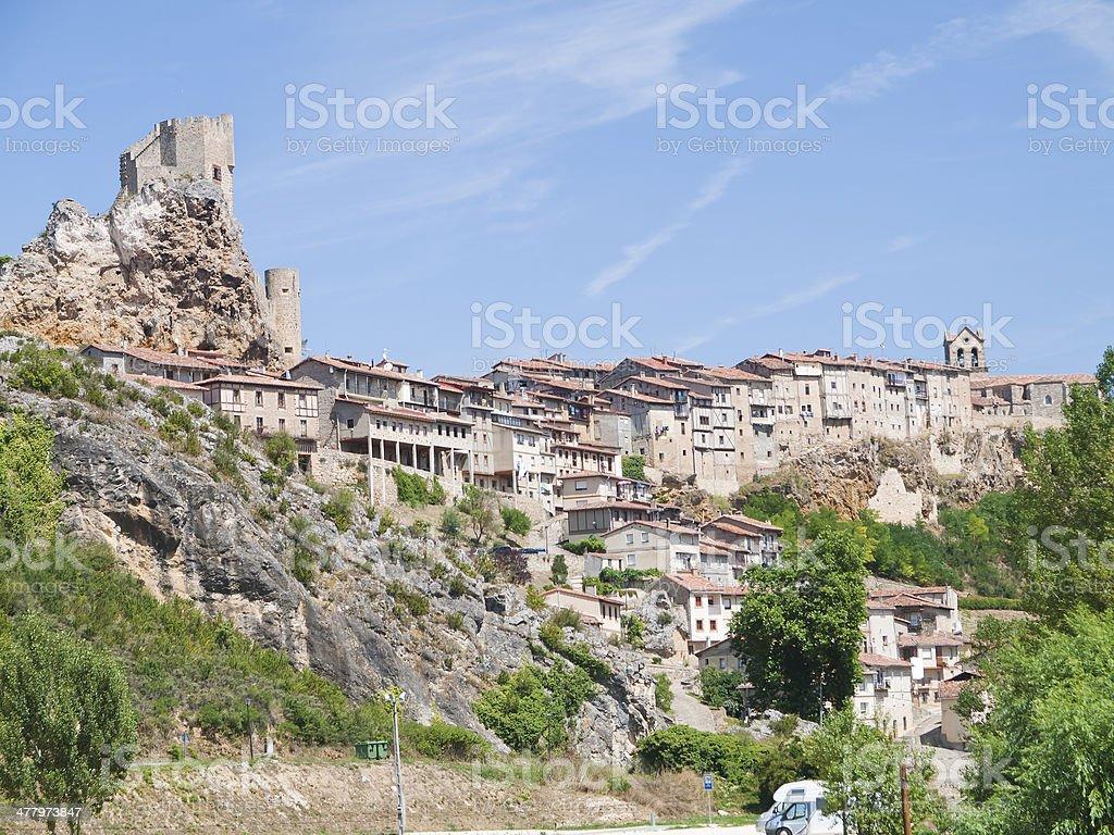 frias medieval town of Burgos province, Spain stock photo