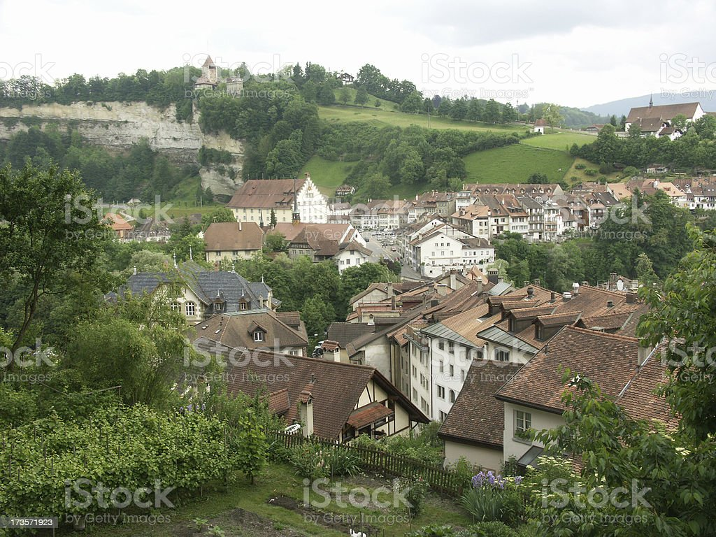 Fribourg in Switzerland stock photo