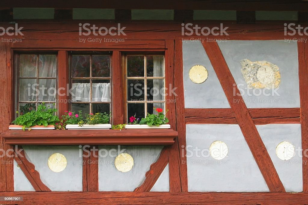 Fribourg typical Wall royalty-free stock photo