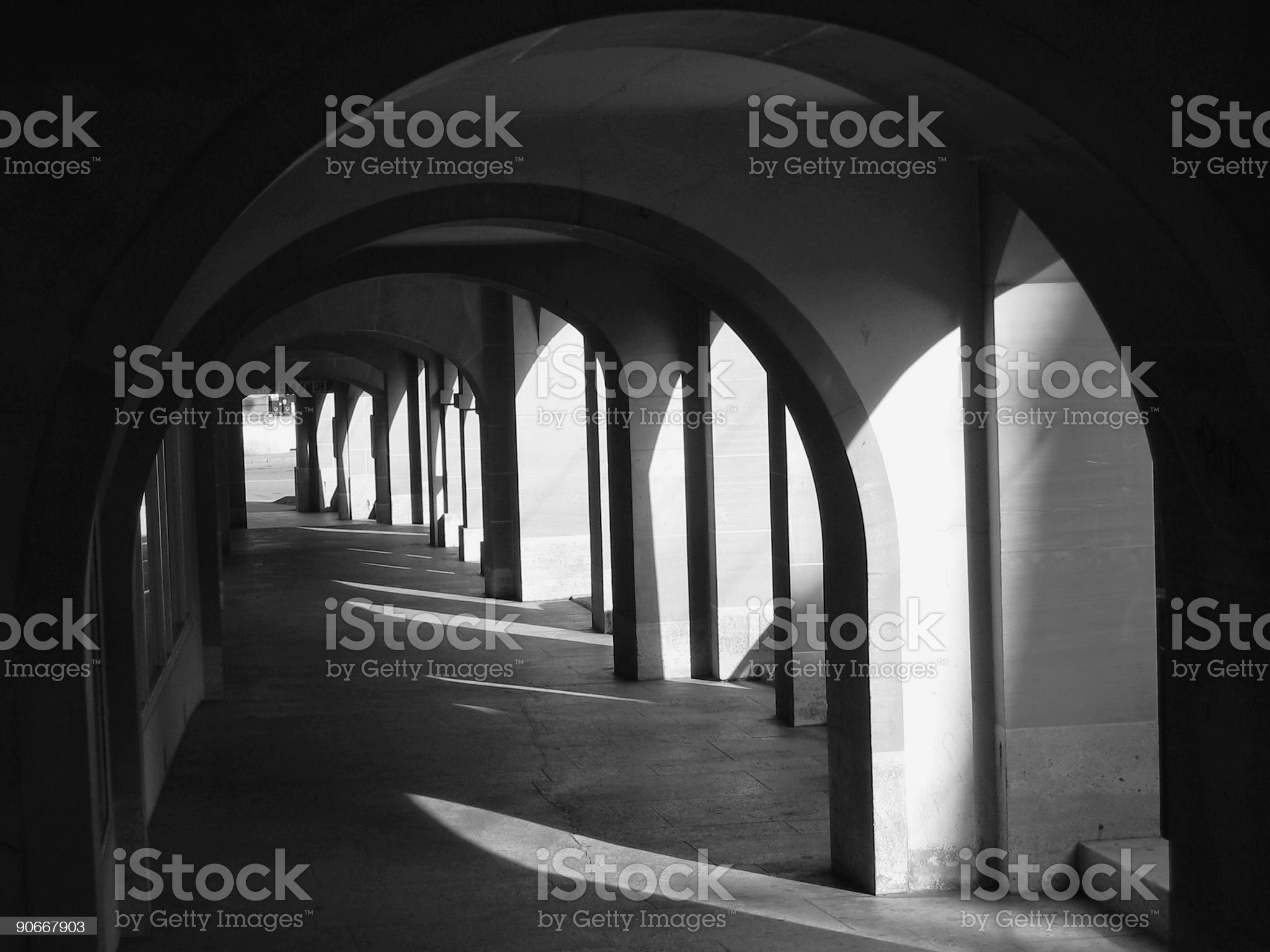 Friburg arches royalty-free stock photo