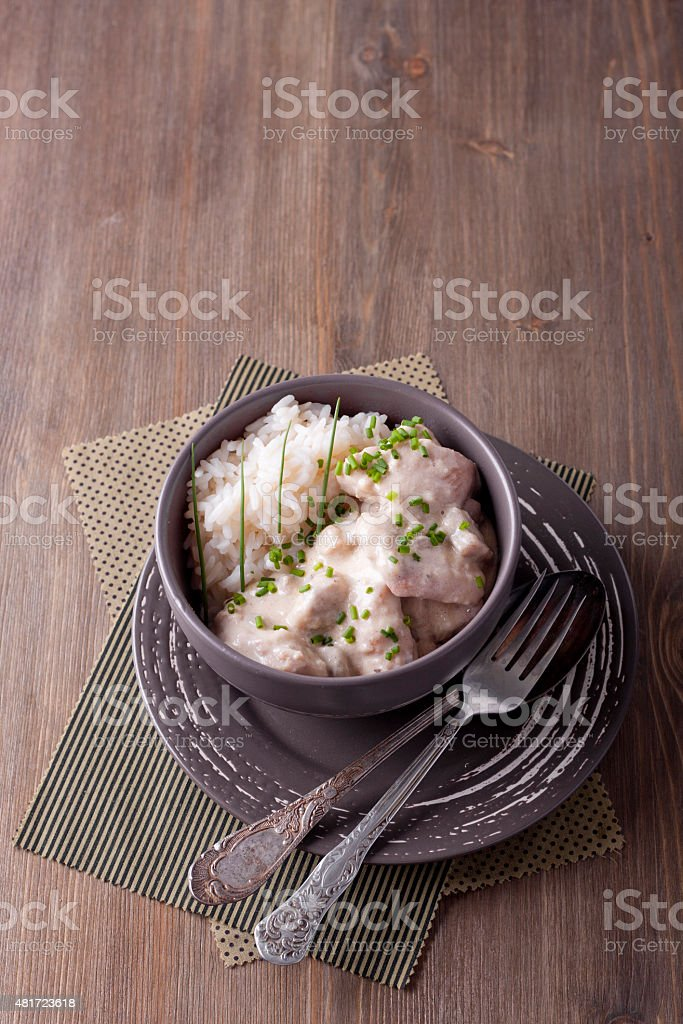Fricassee stock photo