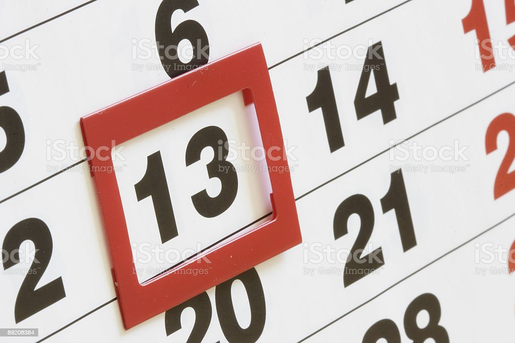 Friday, 13 stock photo